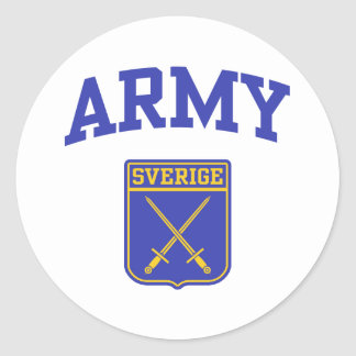 Exército sueco adesivo em formato redondo