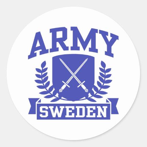 Exército sueco adesivo redondo