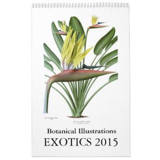 Exotics 2015 calendário