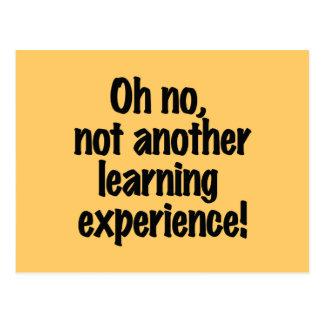 Experiência de aprendizagem cartão postal