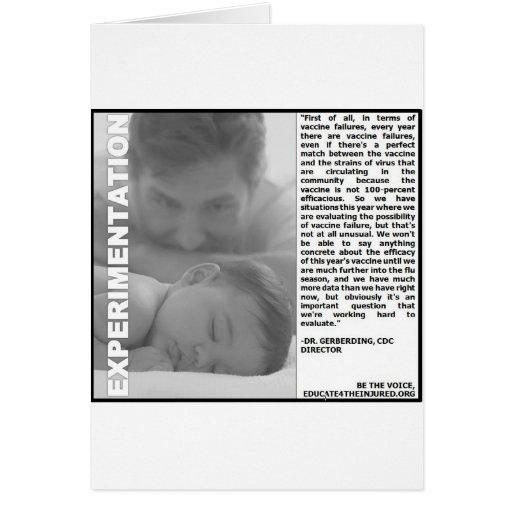 experimentação da vacina contra a gripe, apenas um cartões