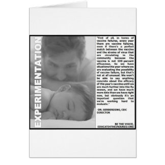 experimentação da vacina contra a gripe, apenas um cartão comemorativo