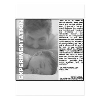 experimentação da vacina contra a gripe, apenas um cartões postais