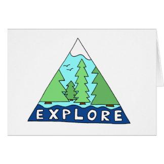 Explore o cartão de nota vazio da montanha da