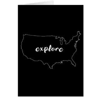 Explore o cartão dos EUA