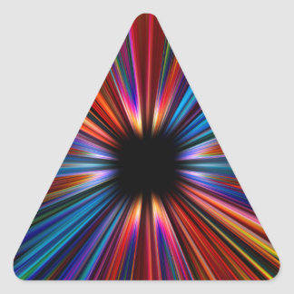 Explosão colorida do starburst adesivo triangular