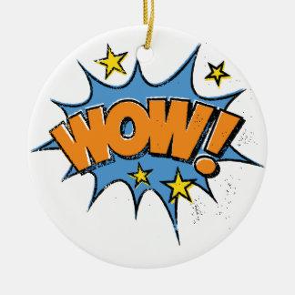 Explosão cómica engraçada dos desenhos animados ornamento de cerâmica redondo