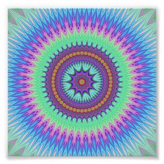 Explosão da estrela impressão de foto