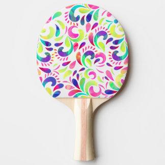 Explosão de cor festiva do carnaval da raquete de ping-pong