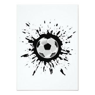 Explosão do futebol convite 12.7 x 17.78cm
