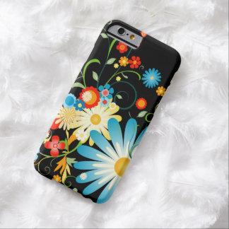 Explosão floral da cor no preto capa barely there para iPhone 6