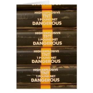 Explosivo de TNT Cartões
