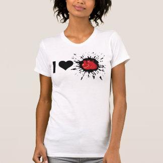 Explosivo que eu amo encaixotar camisetas
