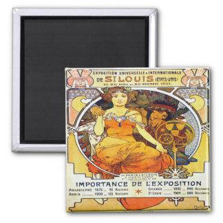 Exposição 1903 de Alfons Mucha Universelle Imã