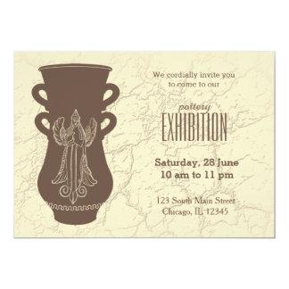 Exposição da cerâmica convite 12.7 x 17.78cm