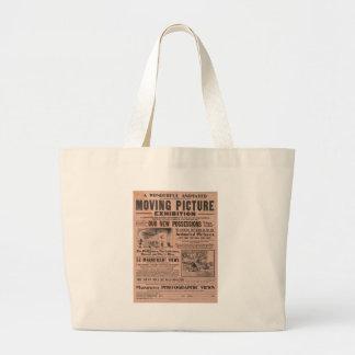 Exposição da imagem movente do vintage bolsas de lona