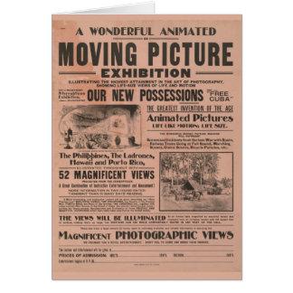 Exposição da imagem movente do vintage cartão