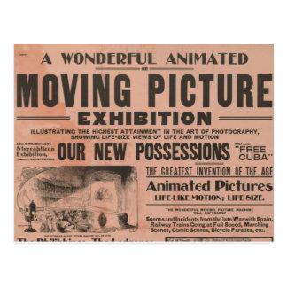 Exposição da imagem movente do vintage cartao postal
