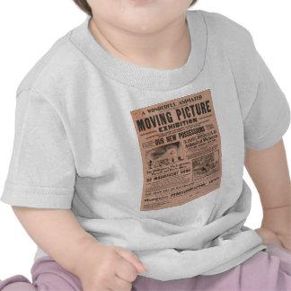 Exposição da imagem movente do vintage camiseta