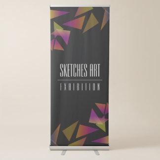 Exposição de arte abstrata dos confetes banner retrátil