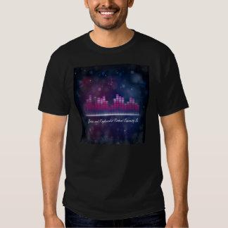 Exposição do equalizador e t-shirt audio das