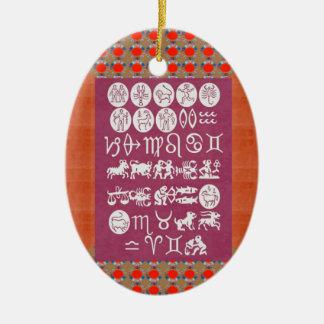 EXPOSIÇÃO DO SÍMBOLO DO ZODÍACO. PRESENTE elegante Ornamentos Para Arvore De Natal