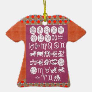 EXPOSIÇÃO DO SÍMBOLO DO ZODÍACO. PRESENTE elegante Enfeites Para Arvores De Natal