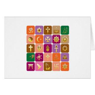 EXPOSIÇÃO somente: ÍCONES religiosos decorativos Cartão Comemorativo
