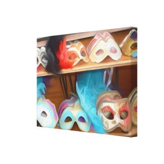 Exposição Venetian da máscara - impressão das