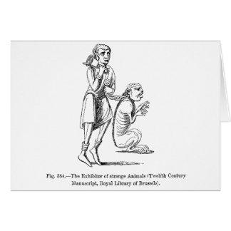 Expositor de animais estranhos cartão comemorativo