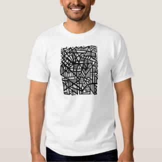 Expressão abstrata de Koria preto e branco T-shirt
