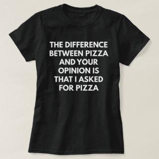 Expressão sarcástica engraçada da pizza camiseta