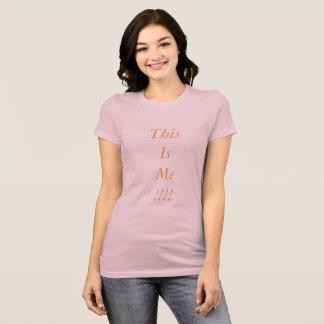 Expresse quem você está camiseta