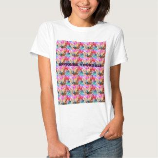 expresse-se o T das mulheres Camisetas