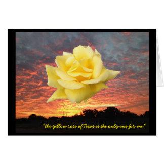Expresse seu amor com um cartão do rosa amarelo de