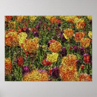 Expressionism de Digitas: Campo das tulipas [S] Pôster