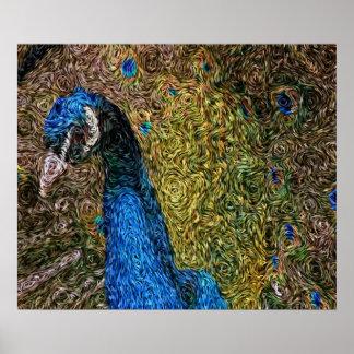 Expressionism de Digitas: Plumagem do pavão [L] Pôster