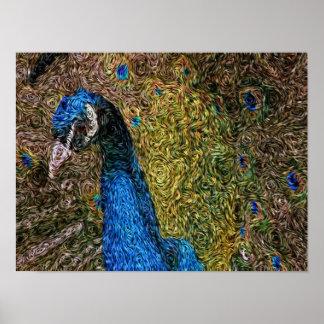Expressionism de Digitas: Plumagem do pavão [S] Pôster