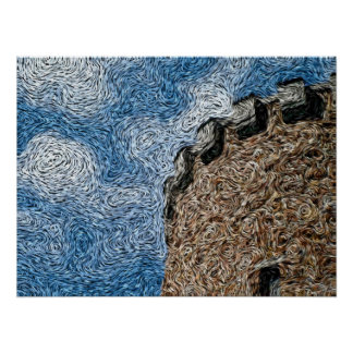 Expressionism de Digitas: Torreta do castelo [S] Pôster