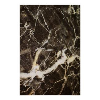Expressionism do Marmorear-Abstrato por Shirley Poster Perfeito