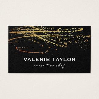 Expressivo artístico do ouro cartão de visitas