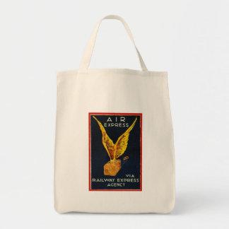 Expresso de ar através da agência expressa da sacola tote de mercado