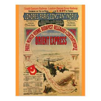 Expresso de oriente cartão postal