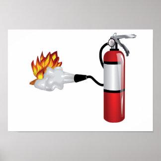 Extintor que pôr para fora o poster do fogo pôster