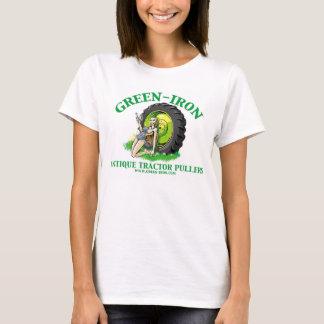Extratores verdes do trator da antiguidade do camiseta
