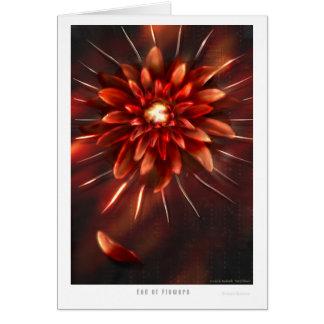 Extremidade das flores - cartão