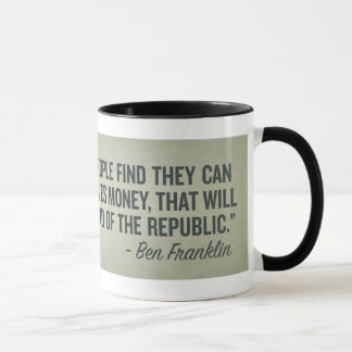 Extremidade de Franklin da caneca da república