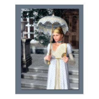 Extremidade do cartão do Victorian do dia