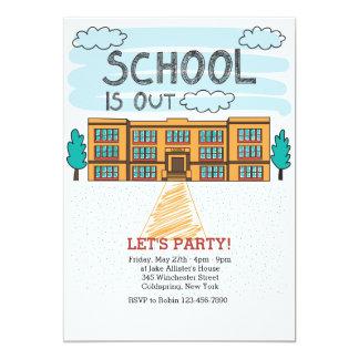 Extremidade do prédio da escola do convite do ano
