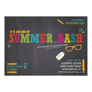 Extremidade do verão/de volta à festança da escola convite 12.7 x 17.78cm